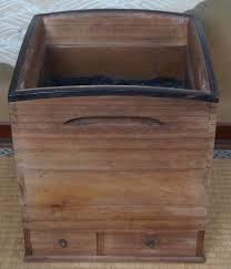 antique hibachi traditional japanese kettle heater 1900s japan tea
