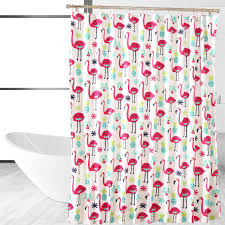 amazon com affluence home fashions fancy flamingo shower curtain