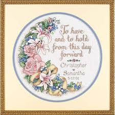 dimensions to and to hold wedding record cross stitch kit