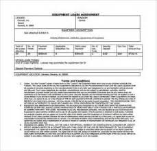equipment lease contract template 28 images 9 equipment rental