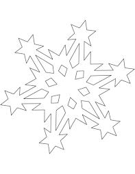 snowflake pattern stars coloring free printable