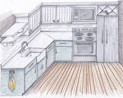 simple kitchen sketch interior design