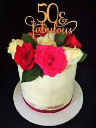 50 u0026 fabulous cake topper 50th birthday cake topper cake