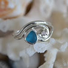 glass wedding rings sea glass engagement ring things i