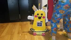 pikachu robot for project kids build crafts cardboard paint