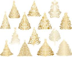 gold christmas gold christmas tree clipart gold flourish swirls christmas tree