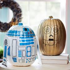 r2 d2 and c 3po star wars pumpkins diycandy com