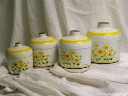 yellow canister sets kitchen 345 best vtg kitchen yellow orange green images on