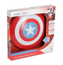 captain america shield light target philips marvel captain america shield 3d led wall light including