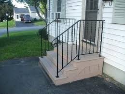 outdoor wrought iron stair railings handrails for exterior stairs