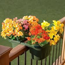 Rail Hanging Planters by 25 Space Saving Ideas Creating Beautiful Balcony Designs Porch