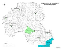San Jose State University Map by District Boundaries U2013 Schools U2013 Campbell Union High District