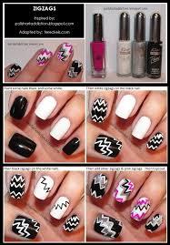 zig zag nail arts nailarts nail nail arts pinterest art