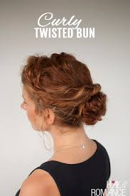 hair tutorial curly hair tutorial easy twisted bun hairstyle hair romance