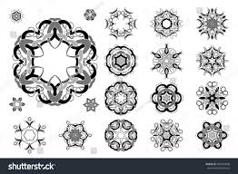celtic knotwork design set vector stock vector 409857838