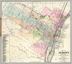 Albany New York Map by Albany New York David Rumsey Historical Map Collection