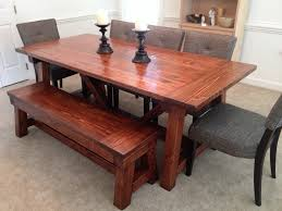 ana white 4x4 truss dining room table and bench diy projects additional photos