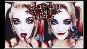harley quinn halloween costume party city arkham city inspired harley quinn makeup youtube