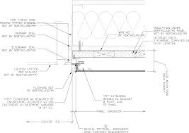 Window Sill Detail Cad Northclad Acm Series Details For Application With Insulation