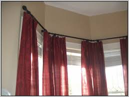 Double Curtain Rod For Bay Window Double Curtain Rod Bay Window Curtains Home Design Ideas
