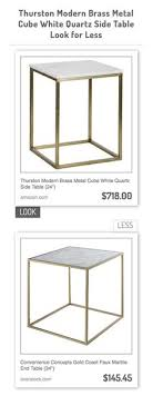 convenience concepts gold coast faux marble end table faux marble top table in gold and stone vs target zm home modern 24