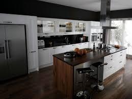 mini kitchen design furnished with single sofa near high chairs