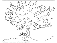 Famous Works Of Art Coloring Pages Children S Tree Coloring Pages