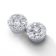 diamonds earrings diamond 14kwg diamond cluster stud earrings 1 00 carat
