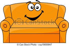 comment dessiner un canapé tapissé dessin animé divan canapé sofa isolé vecteur eps