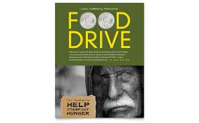 drive brochure template food drive fundraiser flyer template word publisher
