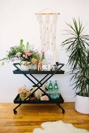 Bar cart two ways with Crate and Barrel 100 Layer Cake