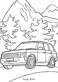 coloriage voiture range rover