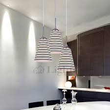 Multi Pendant Lighting Black Striped Glass Shade Idea Modern Multi Pendant Lights