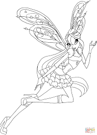 bloom believix coloring page free printable coloring pages