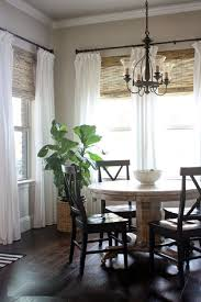 excellent dining room window treatments kitchen living white frame exciting dining room window treatments bow country ideas wooden plaid roll up curtain black dining chairs