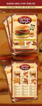 flyer menu template 44 best restaurant food menus graphic designs images on
