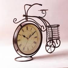 aliexpress com buy retro bicycle clock metal desk clock watch