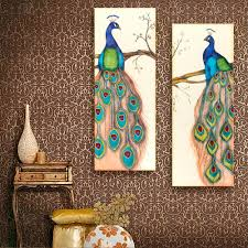 Peacock Decorations For Home Online Get Cheap Modern Peacock Canvas Wall Art Aliexpress Com