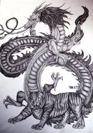 Home Interior Tiger Picture Contempo Picture Of Artsy Grey Scale Asian Dragon Wallpaper For