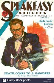 Magazine Usa 1930s Usa Speakeasy Stories Magazine Cover Stock Photo Royalty
