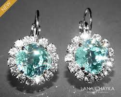 hypoallergenic earrings light azore halo earrings swarovski rhinestone silver