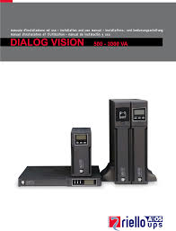 riello dialog vision manual