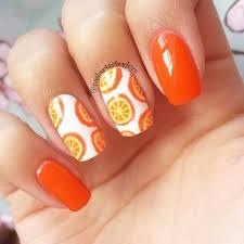 55 orange nail art ideas for girls