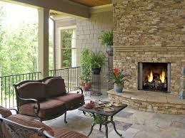 excellent outdoor gas fireplace around granite stone wall design