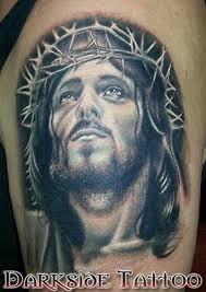 black and gray jesus by dave racci tattoonow