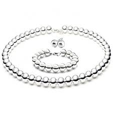 sterling silver beaded necklace images Hollow 8mm large italian sterling silver round ball jpg
