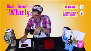 Coffee Blade Grinder How To Grind Coffee With A Electric Grinder Youtube