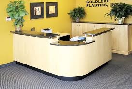 Office Counter Desk Luxury Reception Counter Modern Front Desk Design L Shaped