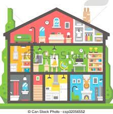 casa disegno appartamento disegno interno casa vista laterale vettore