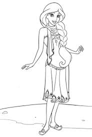 jasmine coloring pages walt disney characters images walt disney coloring pages